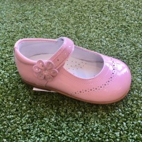 Andanines Pink Patent Leather Flower girls shoe