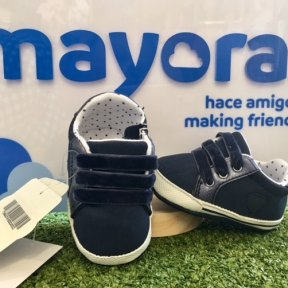 Mayoral navy blue trainer pram shoes