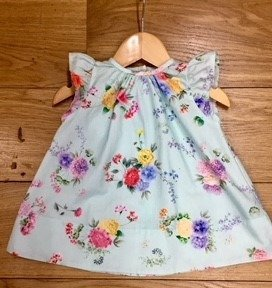 Floc girls mint green floral short sleeved summer dress.