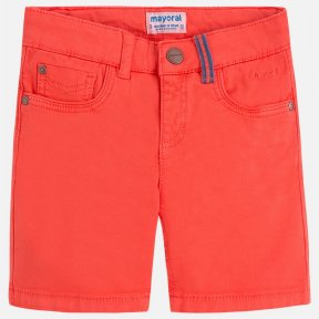Mayoral boys coral cotton shorts
