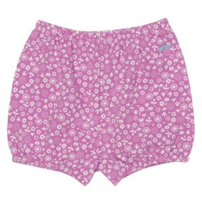 Kite. Ditsy bubble shorts TG0322 • Violet purple with ditsy print • Bubble shape • Elasticated waist and cuffs • Matching items available • 95% organic cotton 5% elastane