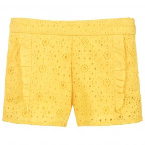 Mayoral yellow cotton girls shorts SS19 3207