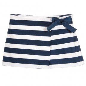 Mayoral navy and white striped skort shorts skirt cotton SS19 3208