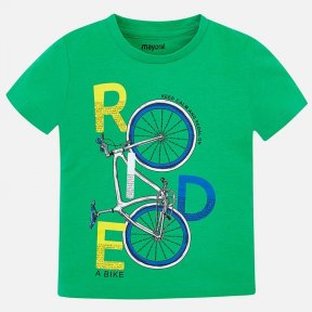 Mayoral boys t-shirt bike pea-green SS19 3045