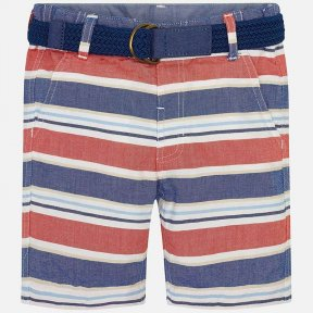 Mayoral boys striped shorts cotton belted SS19 3242