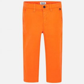 Mayoral Mini Boys slim fit orange chinos. SS19 512