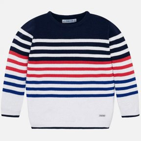 Mayoral boys mini collection long sleeved striped jumper. 100% cotton. SS19 3309