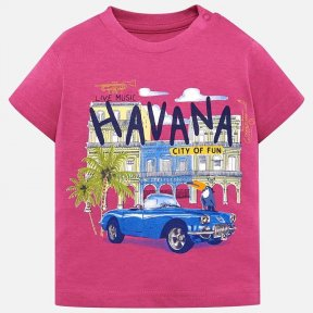 Mayoral boys pink print t-shirt, 100% cotton. SS19 1026