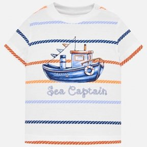 Mayoral striped t shirt, boat print, 100% cotton. SS19 1018