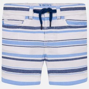 Mayoral cotton striped blue and white baby boys shorts. SS19 1249