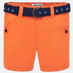 Mayoral orange baby boys orange belted shorts SS19 1241