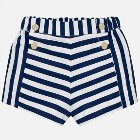 Mayoral navy & white striped shorts SS19 1223
