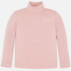 Mayoral girls pale pink turtle neck top 4002