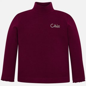 Mayoral burgundy red turtle neck girls top 4002R
