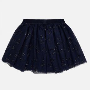Mayoral girls navy gold glitter tulle skirt 4901