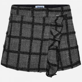 Mayoral black grey checked girls skort 4203