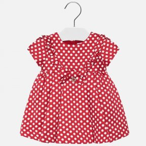 Mayoral red and white spotted dress 2915