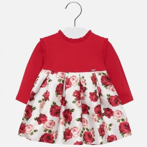 Mayoral girls red and rose dress 2917