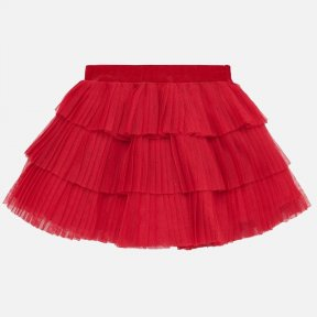 Mayoral red baby girls tulle frill skirt 2901