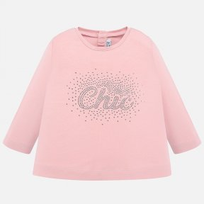 Mayoral pink long sleeved top chic logo 116 P