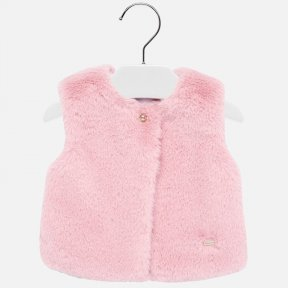 Mayoral baby girls faux fur pink gillet 2317