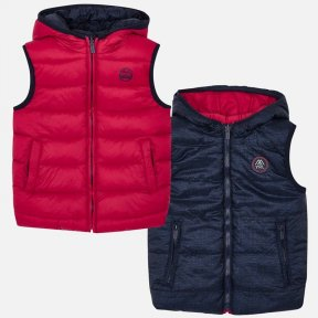 Mayoral boys red and navy reversible padded gilet 4319