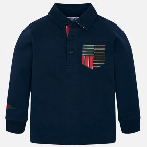 Mayoral navy long-sleeved boys flag top 4112