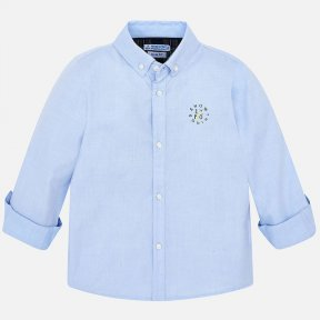 Mayoral boys pale blue logo long sleeved shirt 4120