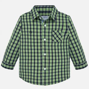 Mayoral boys green & navy checked cotton shirt 2112