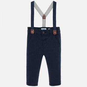 Mayoral boys navy chino trousers with braces 2532