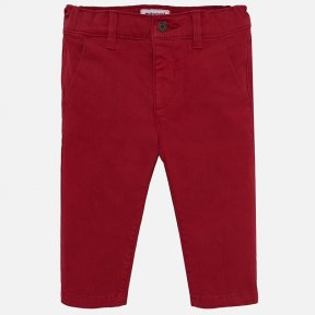 Mayoral boys red chino trousers 521