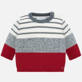 Mayoral red and grey jumper baby boy 2306