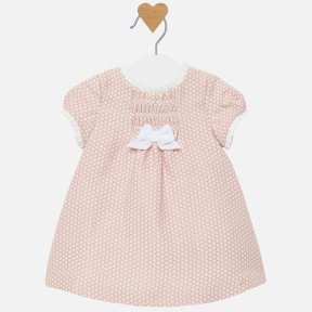 Mayoral baby girls pink smocked dress 2822