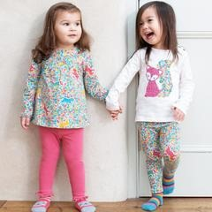 Kite Clothing organic cotton multi coloured pony print leggings, elasticated waist. AW19 TG0363