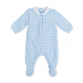 Tutto Piccolo sky blue babygrow with collar detail A/W19 7082