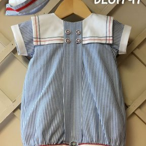 Pretty Originals boys sailor romper suit