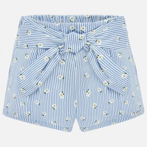 Mayoral blue stripes and daisy shorts SS20 1202