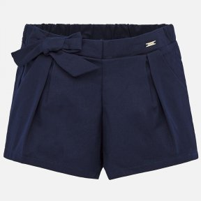 Mayoral navy girls satin shorts SS20 1201