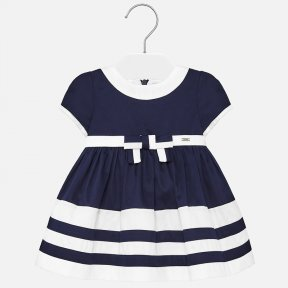 Mayoral navy & white baby girls dress  SS20 1916