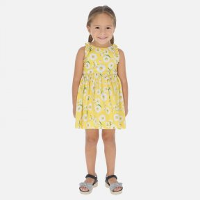 Mayoral girls yellow daisy poplin dress SS20 3951