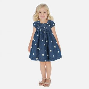 Mayoral girls denim daisy dress SS20 3949
