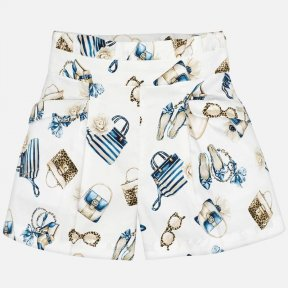 Mayoral girls white and navy shorts SS20 3276