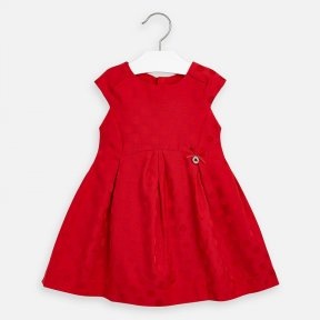 Mayoral girls red dot jacquard dress SS20 3911