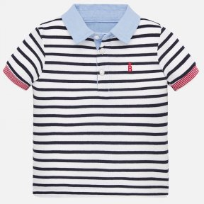 Mayoral boys striped polo shirt  SS20 1151