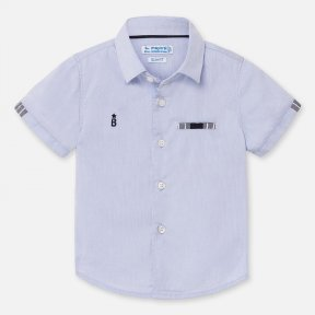 Mayoral Boys light blue short sleeved shirt SS20 1157
