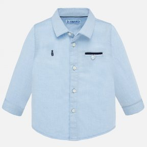 Mayoral light blue long sleeve dress shirt SS20 1164