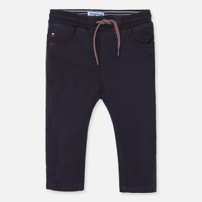 Mayoral navy blue slim fit elasticated waist trousers. 1547