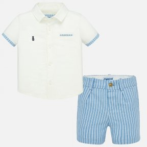 Mayoral boys shirt and shorts set.