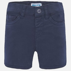 Mayoral navy boys shorts, faux flies, adjustable waistband, button fastening  206