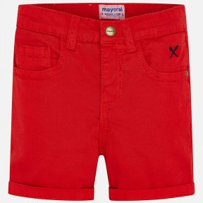 Mayoral boys red shorts,  adjustable waistband, button fastening   206